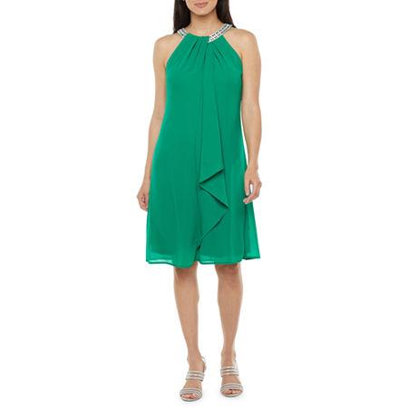 1960s Cocktail, Party, Prom, Evening Dresses R  M Richards Sleeveless Embellished Shift Dress 16  Green $52.49 AT vintagedancer.com