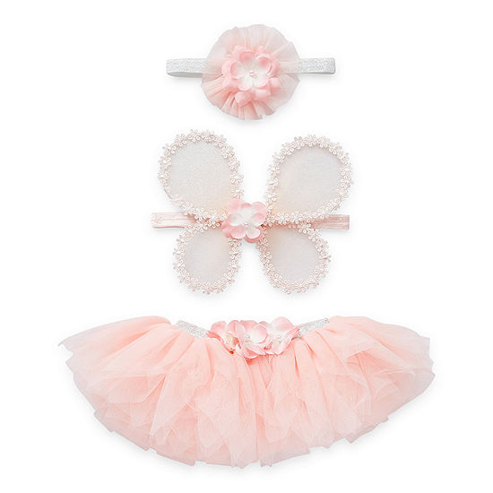 Elly & Emmy 0-12 Months Tutu Baby Girls 3-pc. Baby Gift Set