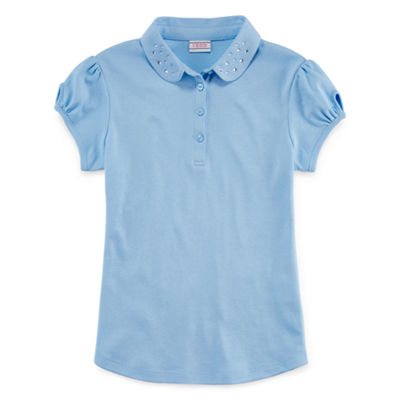 IZOD® Exclusive Short-Sleeve Dazzle-Collar Polo - Girls 4-18 & Plus