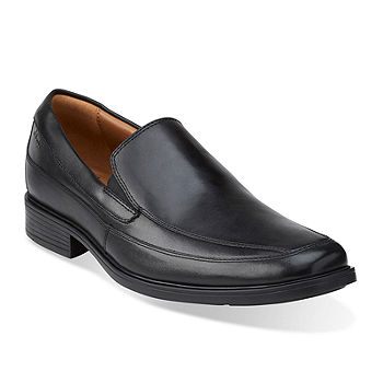 Viva Islas Faroe Leyenda  Clarks® Tilden Free Mens Leather Slip-On Dress Shoes-JCPenney, Color: Black