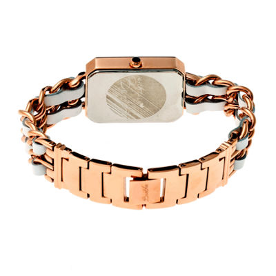 Bertha Womens Josephine Mother-Of-Pearl Gold Bracelet Watchbthbr1502