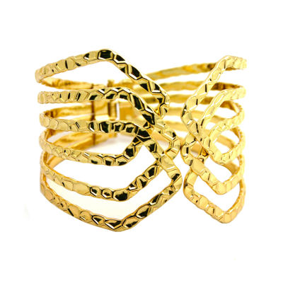 Bold Elements™ Gold Hinge Bracelet