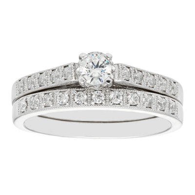 LIMITED QUANTITIES 3/8 CT. T.W. Diamond 14K White Gold Engagement Ring