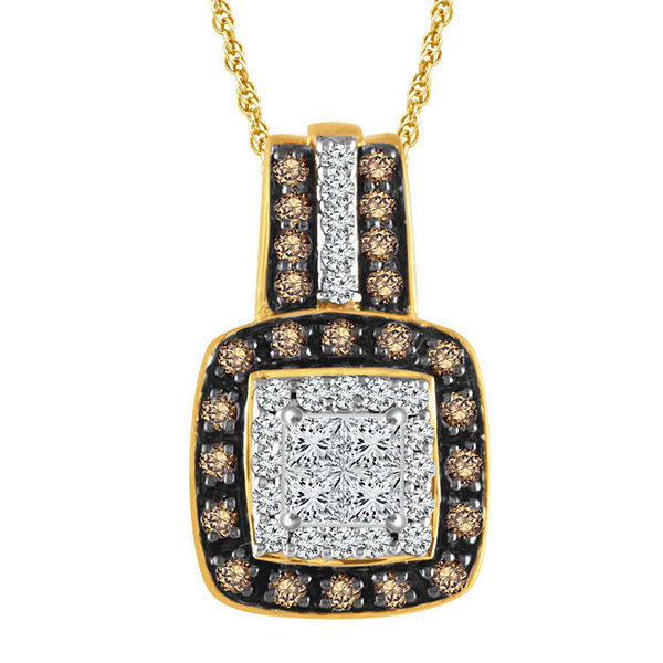 LIMITED QUANTITIES 1/3 CT. T.W. Diamond 10K Yellow Gold Pendant