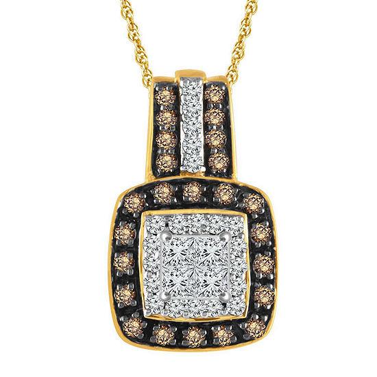 LIMITED QUANTITIES 1/3 CT. T.W. Diamond 10K Yellow Gold Pendant