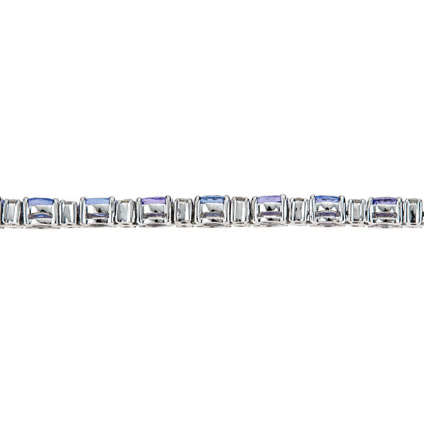LIMITED QUANTITIES Genuine Oval Tanzanite Sterling Silver Bracelet 2