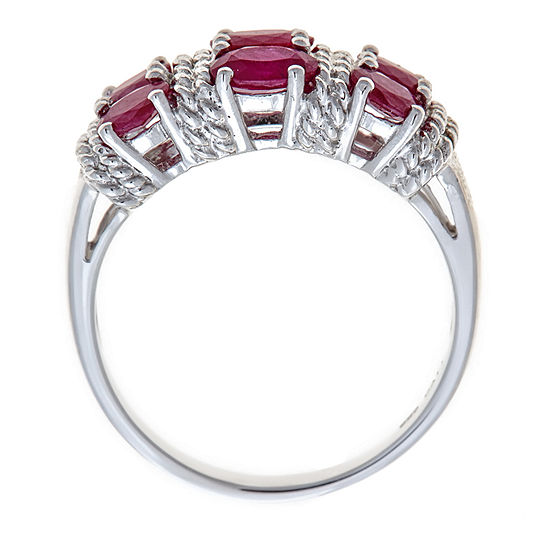LIMITED QUANTITIES Lead Glass-Filled Ruby Sterling Silver Ring