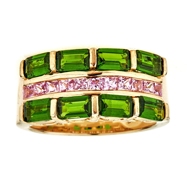 LIMITED QUANTITIES Chrome Diopside 14K Yellow Gold Over Silver Ring