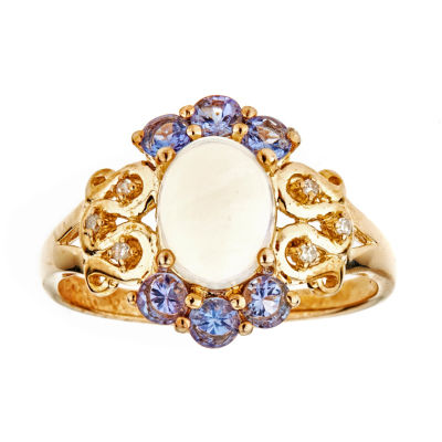 LIMITED QUANTITIES Lab-Created Opal 14K Gold Over Silver Ring