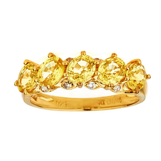 LIMITED QUANTITIES Yellow Sapphire Gold Over Silver Ring