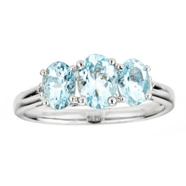 LIMITED QUANTITIES Genuine Aquamarine Sterling Silver Ring