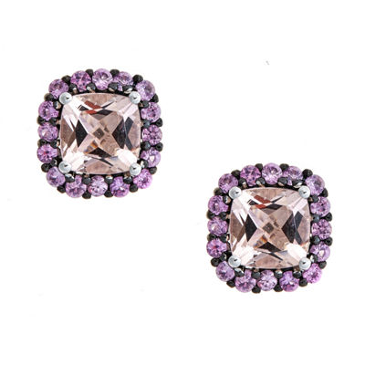 LIMITED QUANTITIES Morganite 10K White Gold Stud Earrings