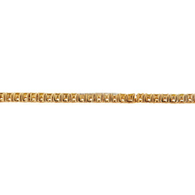 LIMITED QUANTITIES  3 CT T.W. White and Color-Enhanced Yellow Diamond 14K Yellow Gold Bracelet
