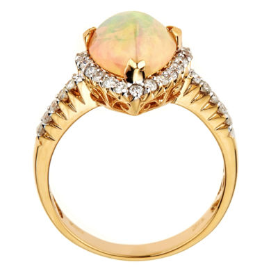 LIMITED QUANTITIES Lab Created Opal 14K Yellow Gold Ring