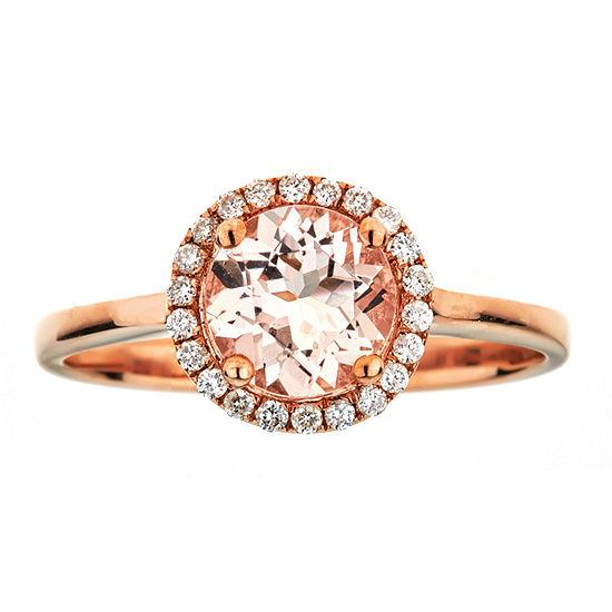LIMITED QUANTITIES  Morganite 10K Rose Gold Ring