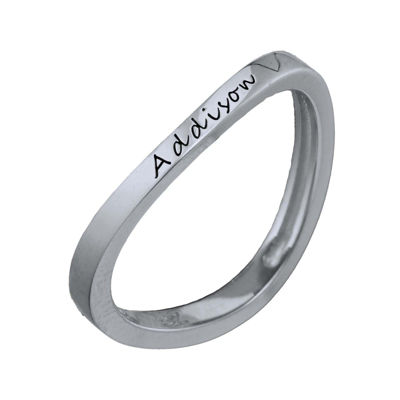 Personalized Curved Stackable Ring