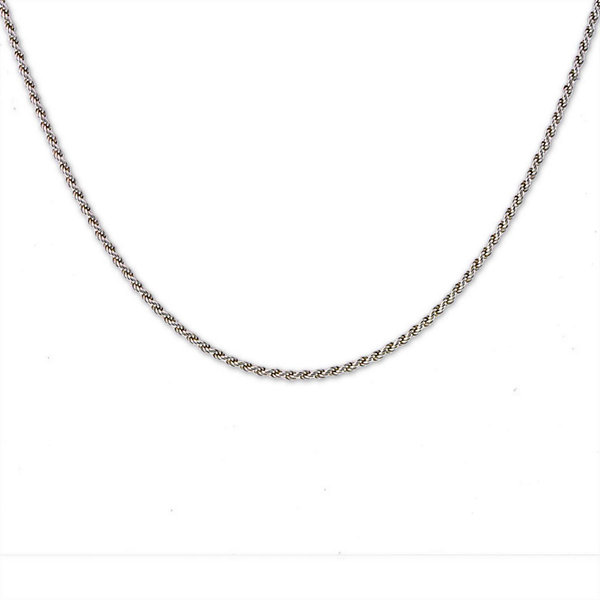 "Mens 24"" Sterling Silver Rope Chain Necklace"