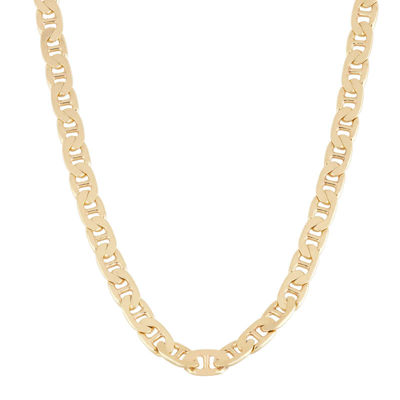 "Mens 18K Yellow Gold Over Silver 20"" Mariner Chain Necklace"