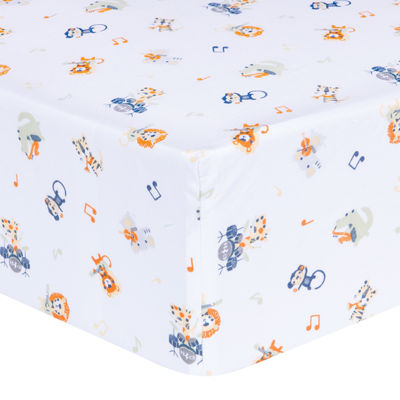 Trend Lab® Safari Rock Band Fitted Crib Sheet