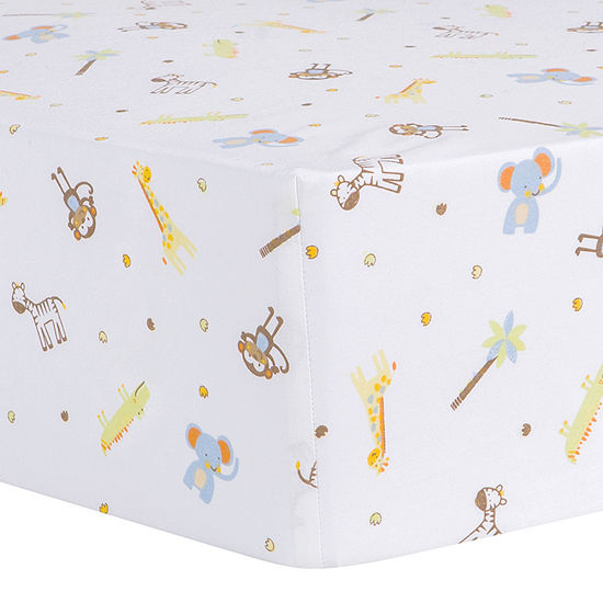 Trend Lab® Jungle Fun Animal Fitted Crib Sheet
