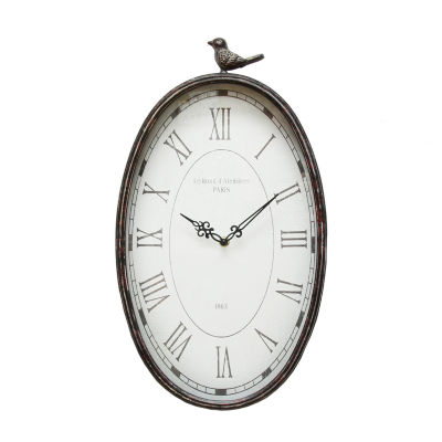 Stratton Home Décor Antique Oval Clock