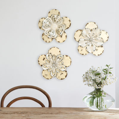 Stratton Home Décor Set of 3 Rustic Flowers