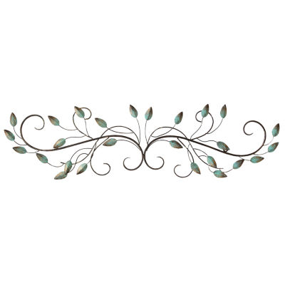 Stratton Home Décor Patina Scroll Leaf