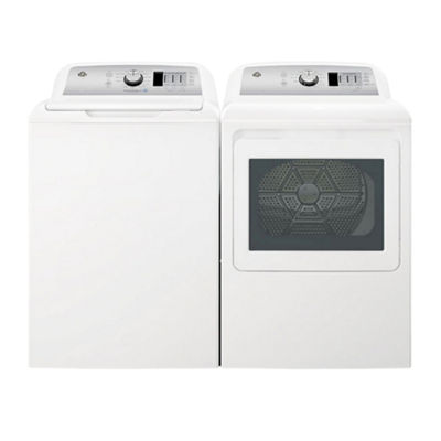 GE® Top Load 2-pc. Electric Washer & Dryer Set- White