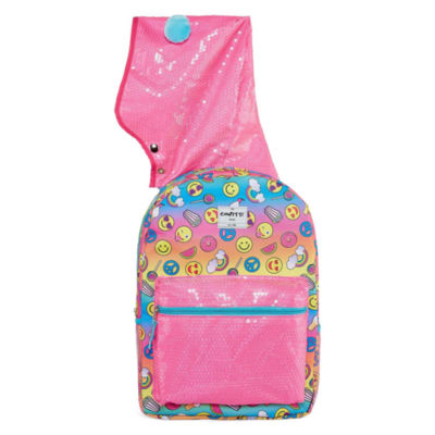 Rainbow Hooded Backpack