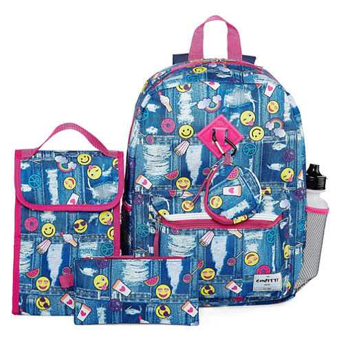 6PC Confetti Backpack Set