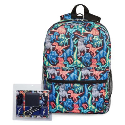 Dino Print Back Pack with Power Bank