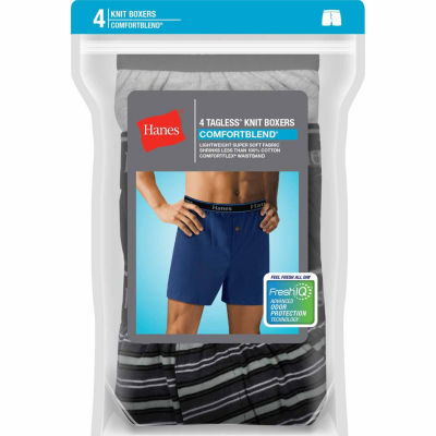 Hanes® 4-pk. ComfortBlend® Tagless Knit Boxers