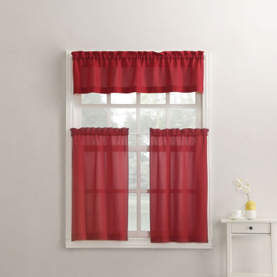 Martine 3-pc. Rod-Pocket Kitchen Curtain Set