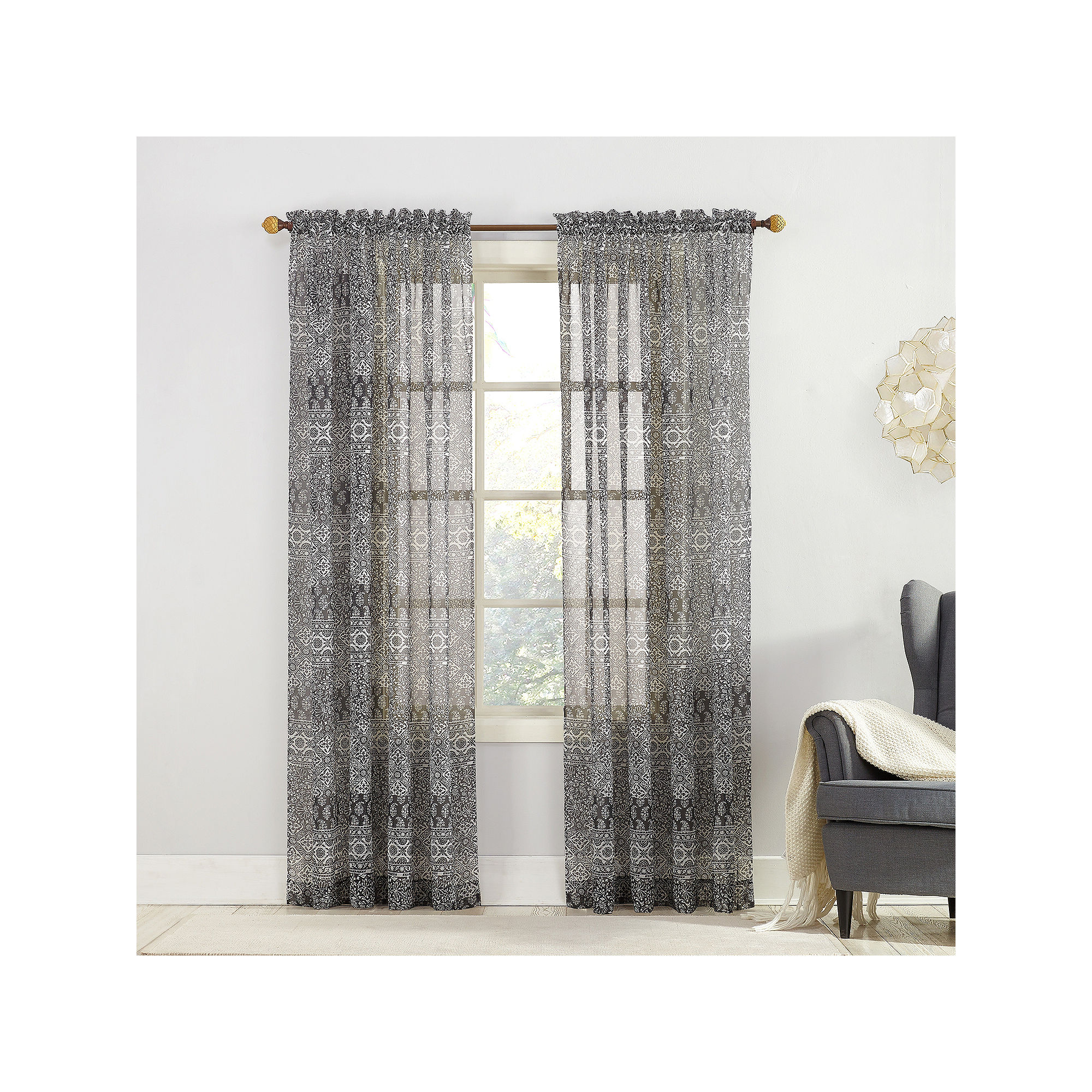 Xander Rod-Pocket Curtain Panel