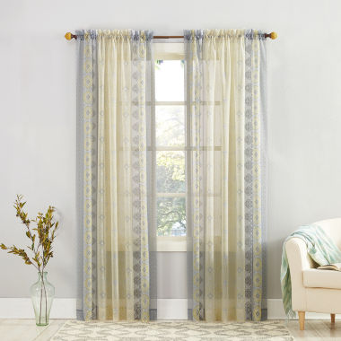 Tosha Rod-Pocket Curtain Panel