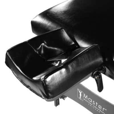 "Master® Massage 31"" Montclair Stationary Massage Table Salon Beauty Bed with Shelf in Black"