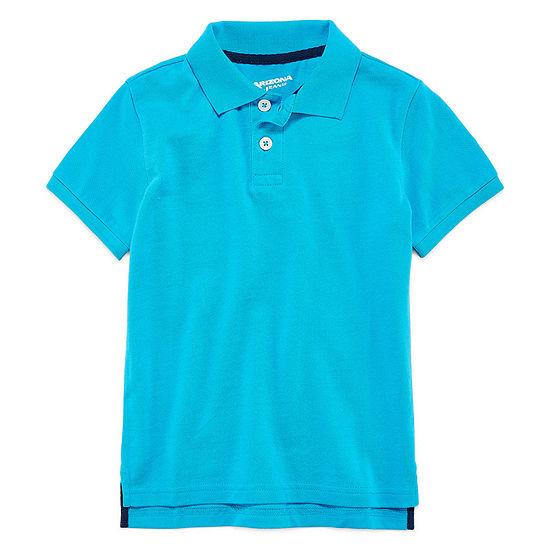Arizona Boys Button Down Collar Short Sleeve Polo Shirt - Preschool