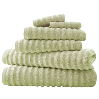 Pacific Coast Textiles Luxury Spa Collection Wavy 6-pc. Bath Towel Set