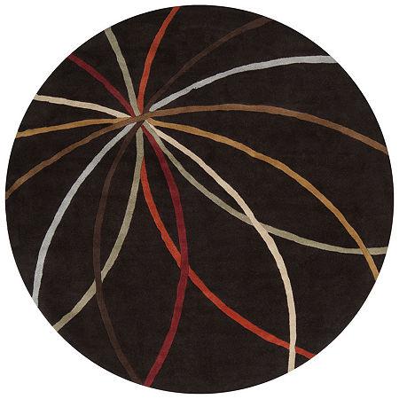 Decor 140 Obihiro Hand Tufted Round Indoor Rugs, One Size , Black