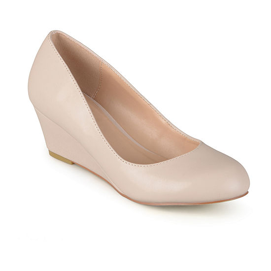Journee Collection Womens Dolup-Wd Pumps Round Toe Wedge Heel