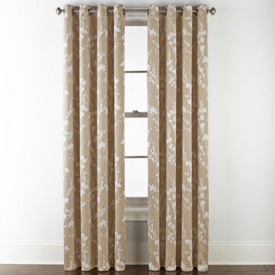 Sheridan Leaf 100% Blackout Grommet-Top Curtain Panel