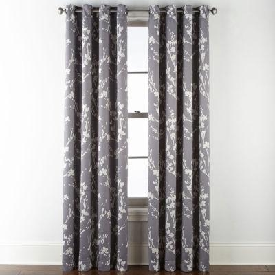 Sheridan Leaf 100% Blackout Grommet-Top Curtain Panel