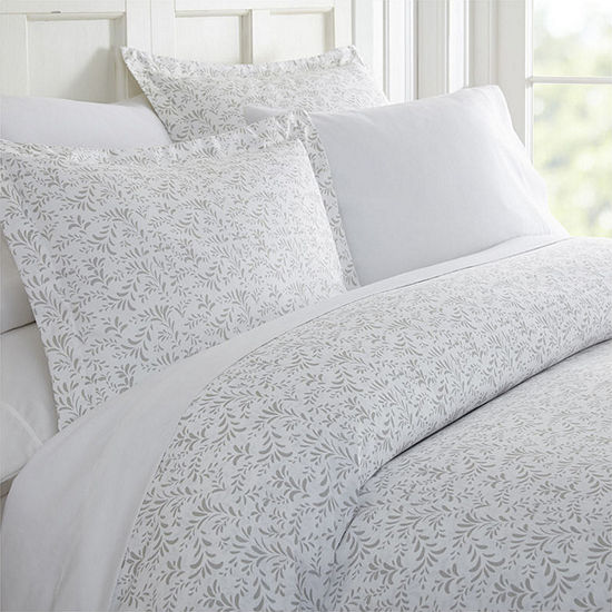 Casual Comfort Premium Ultra Soft 3 Piece Burst of Vines Print Duvet Cover Set