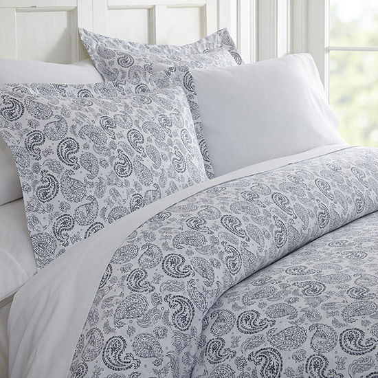 Casual Comfort Premium Ultra Soft 3 Piece Coarse Paisley Print Duvet Cover Set