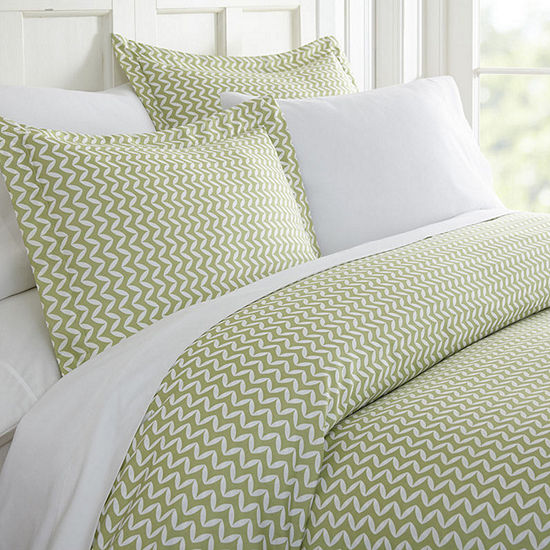 Casual Comfort Premium Ultra Soft 3 -pc Puffed Chevron Print Duvet Cover Set