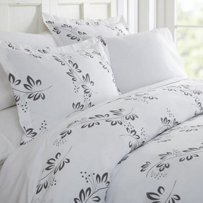 Casual Comfort Premium Ultra Soft 3 Piece Simple Vine Print Duvet Cover Set