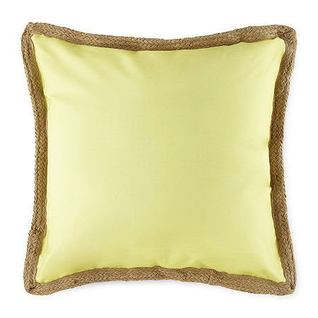 Linden Street Square Outdoor Pillow, One Size , Yellow