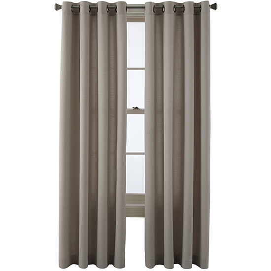 JCPenney Home Arista Light-Filtering Grommet-Top Single Curtain Panel