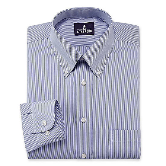 e0878a9934d85 Stafford Travel Performance Pinpoint Oxford Dress Shirt JCPenney