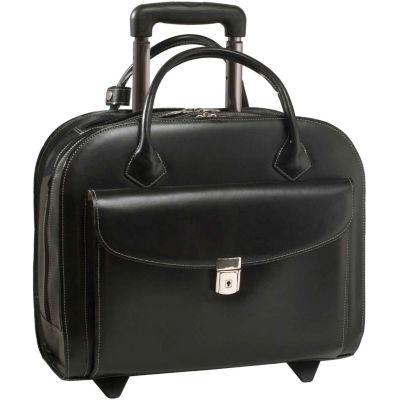 "McKleinUSA Granville 15.4"" Leather Wheeled Laptop Briefcase"